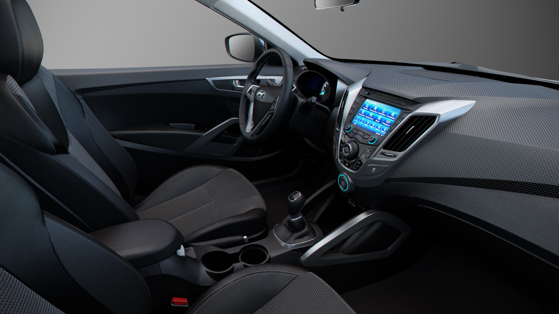 Visualization Of A Hyundai Veloster Interior